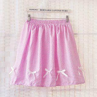 bow-gingham-a-line-skirt