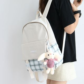 Backpack | Buckle | Canvas | Plaid