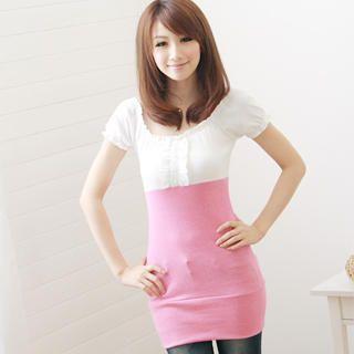 Buy F-DNA Short-Sleeve Color-Block Dress 1022887015
