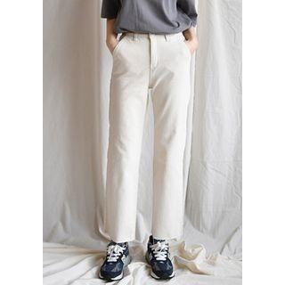 Fray-Hem Wide-Leg Pants 1064228273