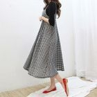 Gingham Midi Pinafore Dress 1596