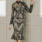 Set: Lace Peplum Top + Ruffled Skirt 1596