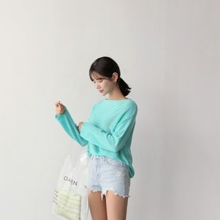 Boat-Neck Knit Top 1066125395