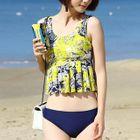 Set: Print Tankini + Cover-Up Midi Skirt 1596