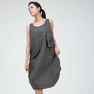Buy Catherine Marie Shirred-Detail Sleeveless Linen Dress 1023005058