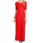 Elbow-Sleeve Maxi Dress 1596