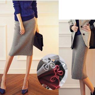 Ribbed Midi Skirt 1063409918