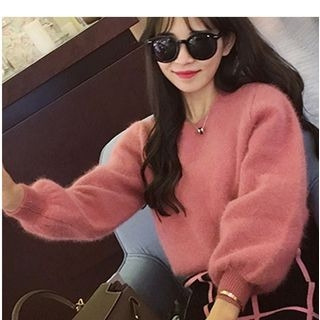 Furry Knit Sweater 1053769235