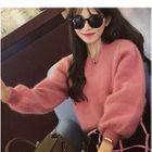 Furry Knit Sweater 1596