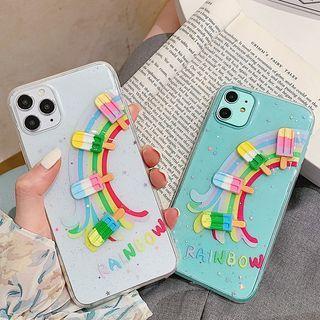 Image of 3D Rainbow Lollipop Transparent Phone Case - iPhone 11 Pro Max / 11 Pro / 11 / SE / XS Max / XS / XR / X / 8 / 8 Plus / 7 / 7 Plus / 6s / 6s Plus