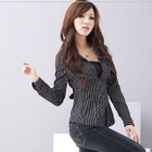 Inset Top V-Neck Stripe Shirt от YesStyle.com INT