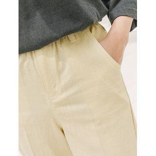 Image of Baggy-Fit Pastel Tone Pants