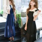 Plain Pinafore Chiffon Dress 1596