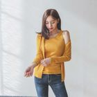 Set: Open-Front Ribbed Cardigan + Tank Top 1596