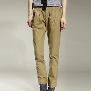 Buy tictak Contrast-Cuff Pleated Pants 1023065773