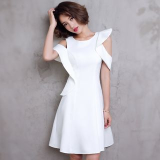 Wonhi Short-Sleeve A-Line Cocktail Dress