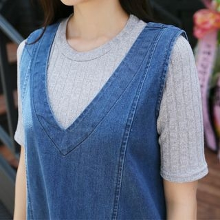 Short-Sleeve Ribbed T-Shirt 1054041090