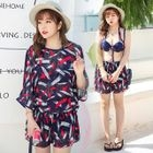 Set: Printed Bikini + Cover-Up 1596