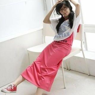 Buy BAIMM Hooded Print Long Tank Dress 1023029905