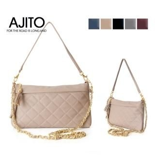 Buy AJITO Faux-Leather Quilted Handbag 1021632453