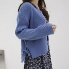 Round-Neck Ribbed Cardigan 1596