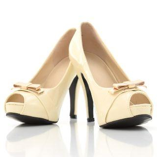 Bow-Accent Patent Platform Pumps
