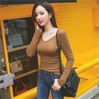 Long-Sleeve V-Neck Slim-Fit T-Shirt 1053758327