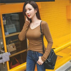 Long-Sleeve V-Neck Slim-Fit T-Shirt 1596