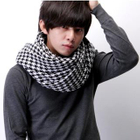 Housestooth Fringed Scarf Black  White - One Size от YesStyle.com INT