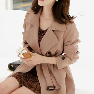 5432204cc6a4f Wear this trench coat to make you look slender and slimmer Long line double  breasted design with notched lapel Made from quality material which will  provide ...