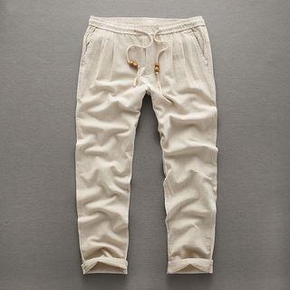 Drawstring-Waist Cotton Pants