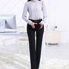 Set: Embellished Chiffon Blouse + Dress Pants 1596