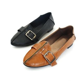 Picture of KAWO Buckled Pointy Flats 1022785941 (Flat Shoes, KAWO Shoes, China Shoes, Womens Shoes, Womens Flat Shoes)