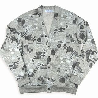 Buy TOKYO LOCAL BAZAAR Patterned Cardigan – Classic Japanese Motif White – One Size 1014451959