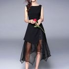 Sleeveless Chiffon Midi Dress 1596