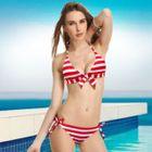 Bow-Accent Halter Bikini 1596