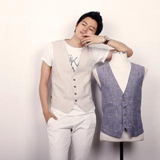 Buy ITSBOY Linen Vest 1022904963