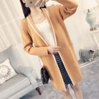 Piped V-neck Long Cardigan 1596