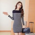 Stripe Knit Dress 1596