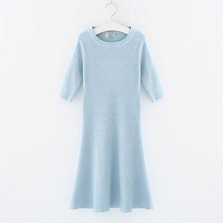 Sleeveless Ribbed Knit Dress 1058601037