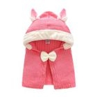 Baby Bow Accent Hooded Cape 1596