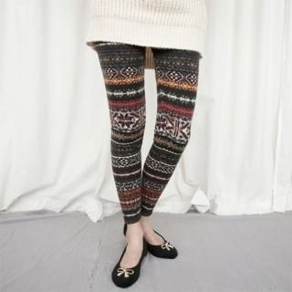 Brushed Fleece Patterned Leggings