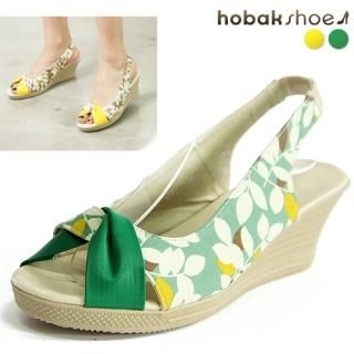 Buy HOBAK girls Open-Toe Slingback Wedge Sandals 1022976699