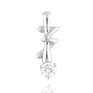 18K White Gold Pendant with Diamonds - United states