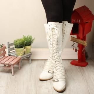 Buy Woorisin Laced up Long Boots 1021477077