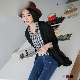 Ribbed Long Cardigan 1053269035