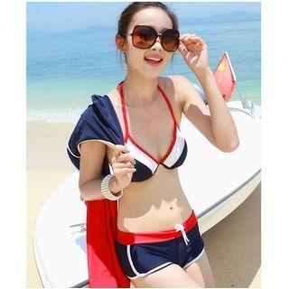 Set: Bikini Top + Swim Shorts + Cover-up 1062531643