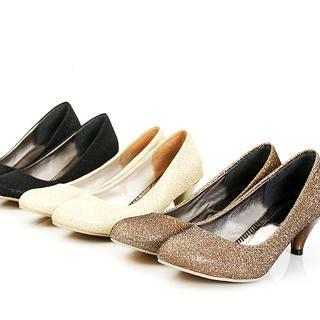 Buy KAWO Lam  Pointy Kitten-Heels 1022761041