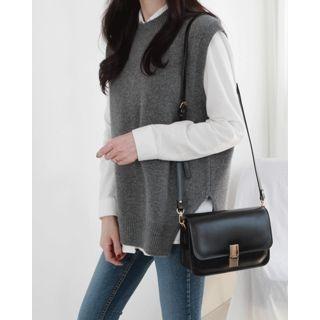 Sleeveless Wool Blend Knit Top 1064341059