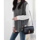 Sleeveless Wool Blend Knit Top 1596
